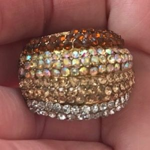 Jewelry - Shades of Topaz Crystal Stretch Ring Pre-owned